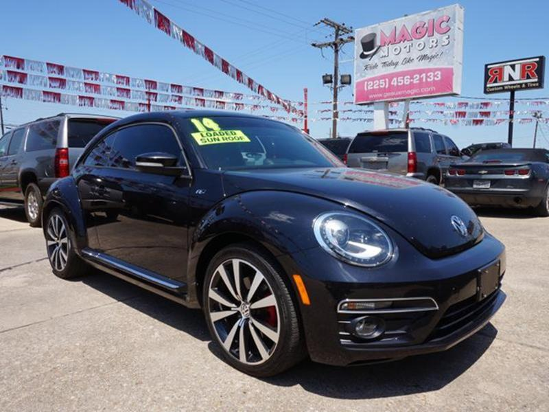 2014 VOLKSWAGEN BEETLE 20T TURBO R-LINE deep black pearl brake actuated limited slip differentia