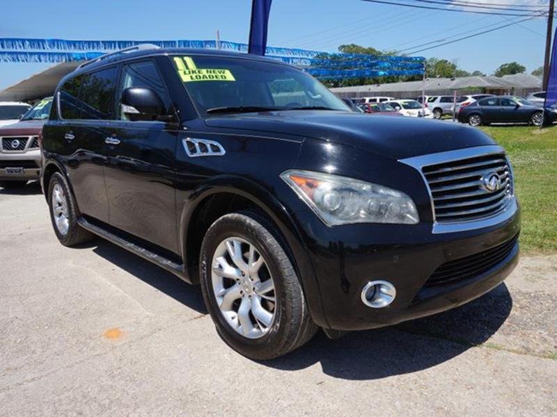 2011 INFINITI QX56 BASE 4X2 4DR SUV black obsidian heated steering wheeluniversal garage door op