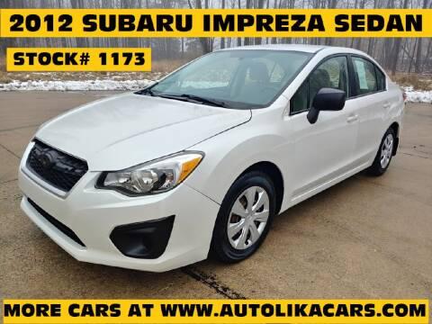 2012 Subaru Impreza 2.0i for sale at Autolika Cars LLC in North Royalton OH