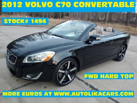 2012 Volvo C70 T5 for sale at Autolika Cars LLC in North Royalton OH