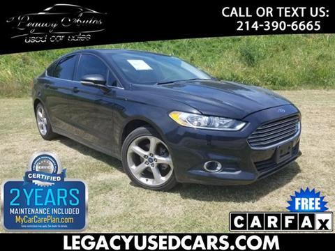2013 Ford Fusion for sale in Dallas, TX