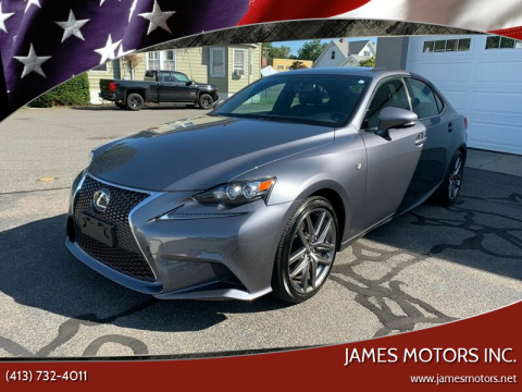 2016 Lexus IS 300 for sale at James Motors Inc. in East Longmeadow MA