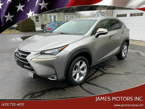 2017 Lexus NX 200t for sale at James Motors Inc. in East Longmeadow MA