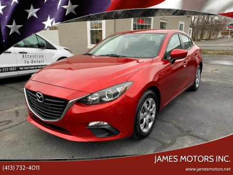 2014 Mazda MAZDA3 for sale at James Motors Inc. in East Longmeadow MA