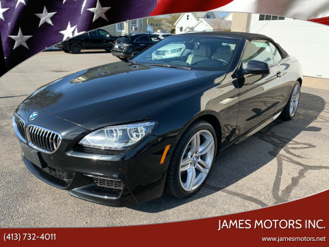 2014 BMW 6 Series for sale at James Motors Inc. in East Longmeadow MA