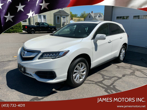 2017 Acura RDX for sale at James Motors Inc. in East Longmeadow MA