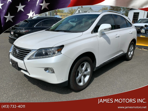 2015 Lexus RX 350 for sale at James Motors Inc. in East Longmeadow MA