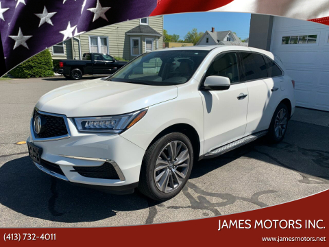 2017 Acura MDX for sale at James Motors Inc. in East Longmeadow MA