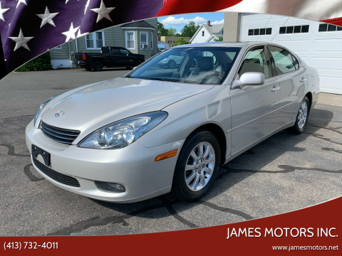2002 Lexus ES 300 for sale at James Motors Inc. in East Longmeadow MA