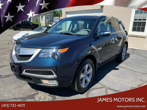 2011 Acura MDX for sale at James Motors Inc. in East Longmeadow MA
