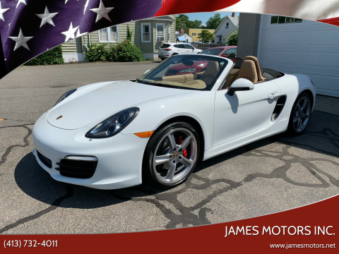 2013 Porsche Boxster for sale at James Motors Inc. in East Longmeadow MA