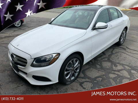2017 Mercedes-Benz C-Class for sale at James Motors Inc. in East Longmeadow MA