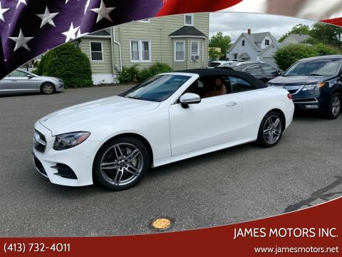 2018 Mercedes-Benz E-Class for sale at James Motors Inc. in East Longmeadow MA