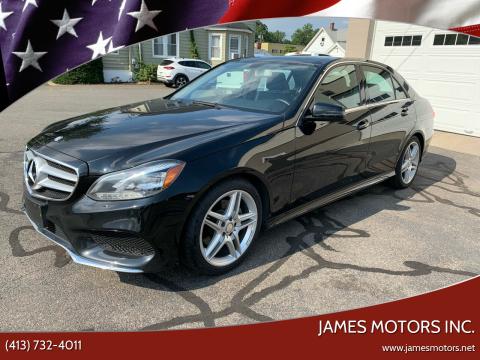 2014 Mercedes-Benz E-Class for sale at James Motors Inc. in East Longmeadow MA