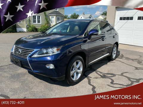 2013 Lexus RX 350 for sale at James Motors Inc. in East Longmeadow MA