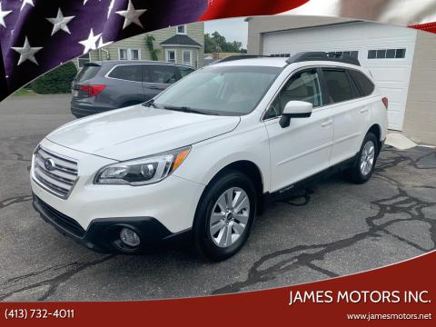 2016 Subaru Outback for sale at James Motors Inc. in East Longmeadow MA