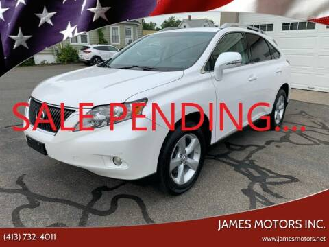 2012 Lexus RX 350 for sale at James Motors Inc. in East Longmeadow MA