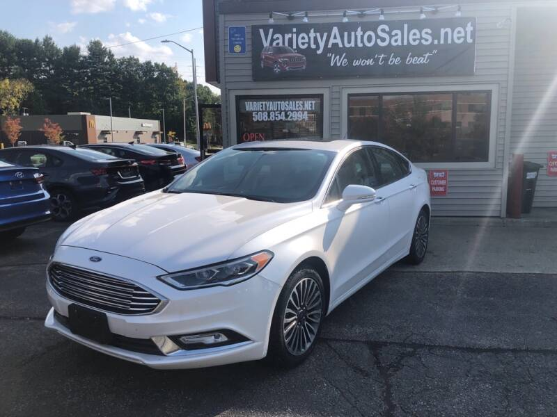 2017 Ford Fusion for sale at Variety Auto Sales in Worcester MA