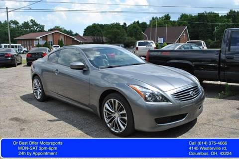 2010 Infiniti G37 Coupe for sale at Or Best Offer Motorsports in Columbus OH