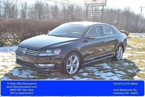 2012 Volkswagen Passat for sale at Or Best Offer Motorsports in Columbus OH