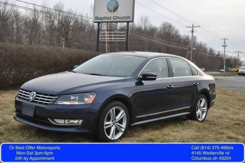 2014 Volkswagen Passat for sale at Or Best Offer Motorsports in Columbus OH