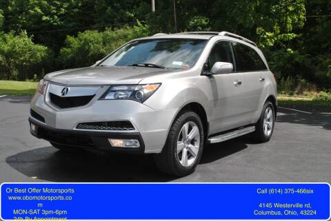 2013 Acura MDX for sale at Or Best Offer Motorsports in Columbus OH