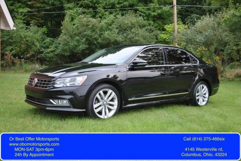 2016 Volkswagen Passat for sale at Or Best Offer Motorsports in Columbus OH
