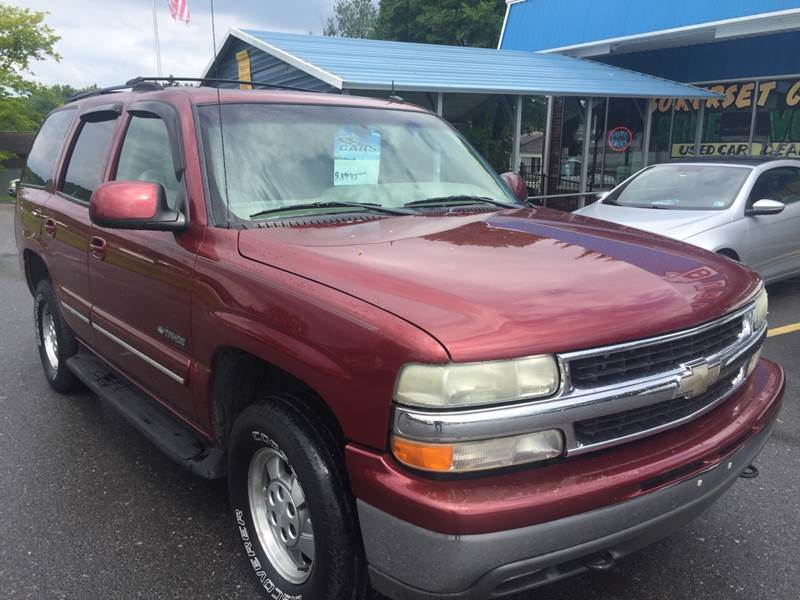 2002 Chevrolet Tahoe for sale at BURNWORTH AUTO INC in Windber PA