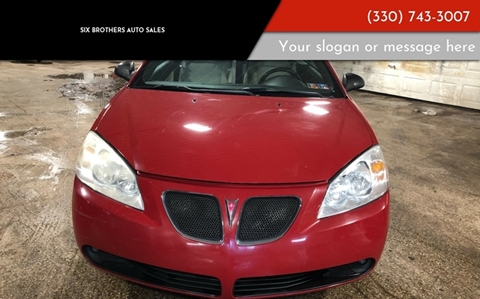 2007 Pontiac G6 for sale in Youngstown, OH