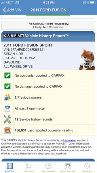 2011 Ford Fusion AWD Sport 4dr Sedan - Youngstown OH