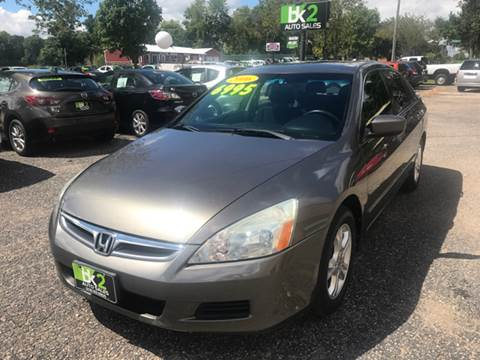 2006 Honda Accord for sale at BK2 Auto Sales in Beloit WI