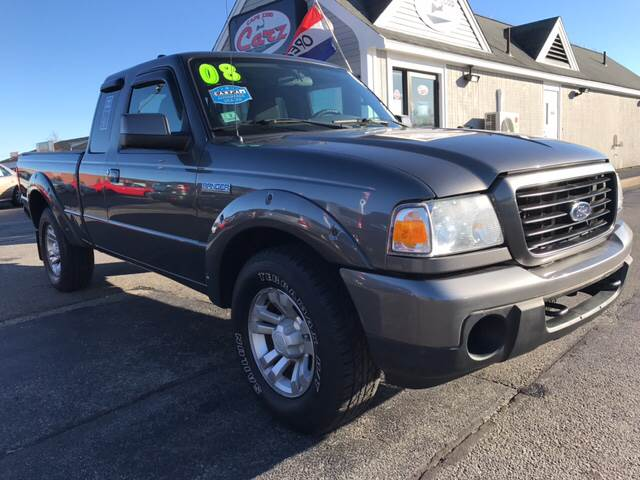 2008 FORD RANGER SPORT 4X4 4DR SUPERCAB SB gray low miles carfax certified no accidents