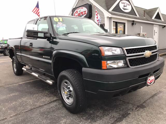2007 CHEVROLET SILVERADO 2500HD CLASSIC WORK TRUCK 4DR EXTENDED CAB 4WD green contractors take