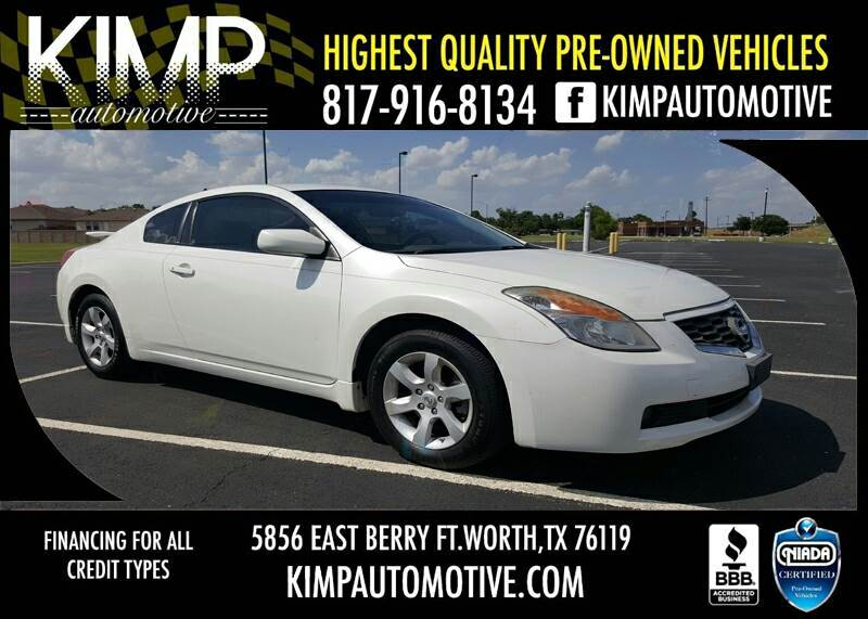 2008 Nissan Altima 2.5 S SULEV 2dr Coupe CVT   Fort Worth TX