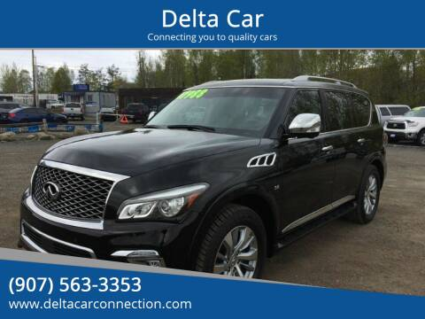 2016 Infiniti QX80 for sale at Delta Car in Anchorage AK
