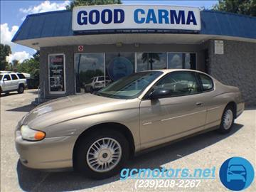 2001 Chevrolet Monte Carlo for sale in Fort Myers, FL