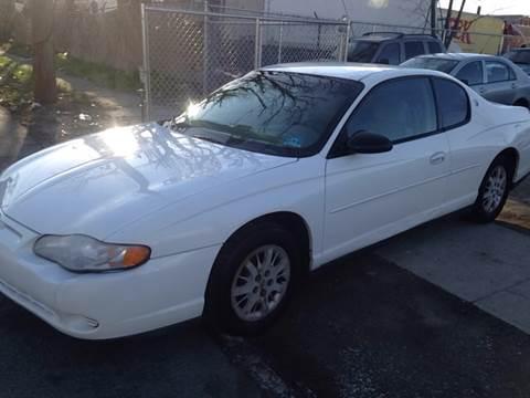 2001 Chevrolet Monte Carlo for sale at O A Auto Sale in Paterson NJ