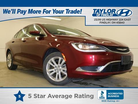 2015 Chrysler 200 For Sale >> Used 2015 Chrysler 200 For Sale In Findlay Oh Carsforsale Com
