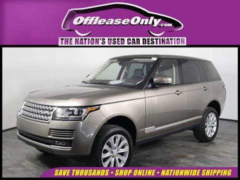 Used Range Rovers For Sale >> 2016 Land Rover Range Rover For Sale In Orlando Fl