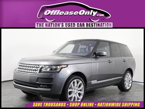 2016 Land Rover Range Rover for sale in Orlando, FL
