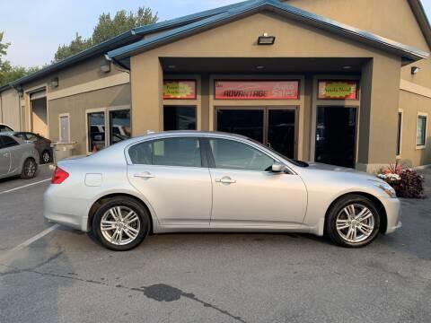 2011 Infiniti G25 Sedan for sale at Advantage Auto Sales in Garden City ID
