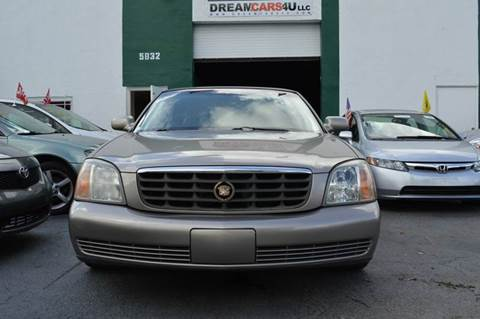 2002 Cadillac DeVille for sale at Dream Cars 4 U in Hollywood FL