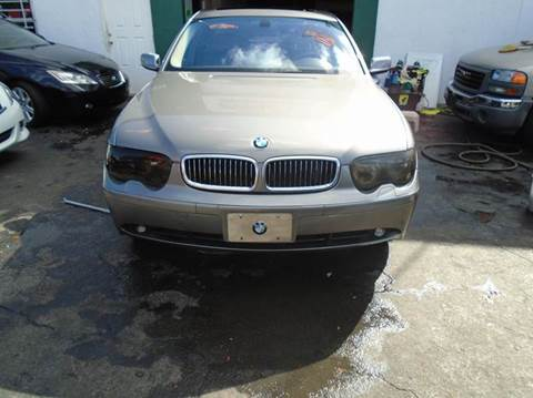 2003 BMW 7 Series for sale at Dream Cars 4 U in Hollywood FL