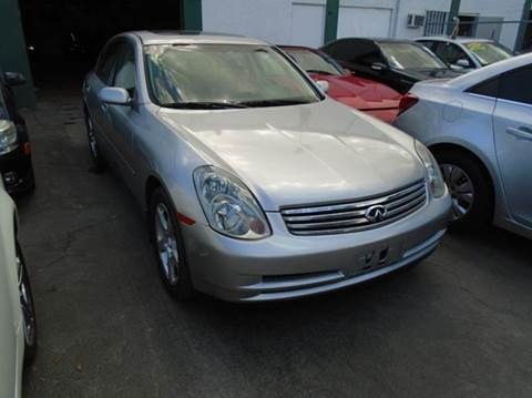 2003 Infiniti G35 for sale at Dream Cars 4 U in Hollywood FL