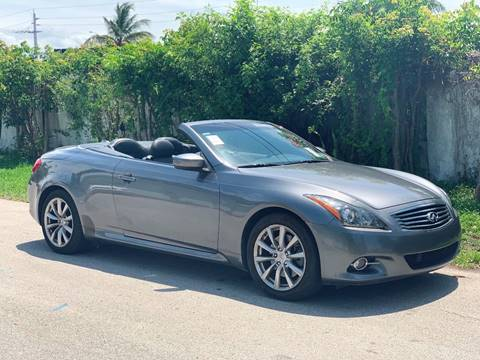 2012 Infiniti G37 Convertible for sale in Fort Lauderdale, FL