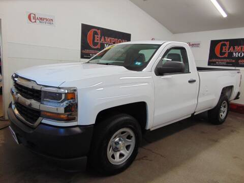 2016 Chevrolet Silverado 1500 for sale at Champion Motors in Amherst NH