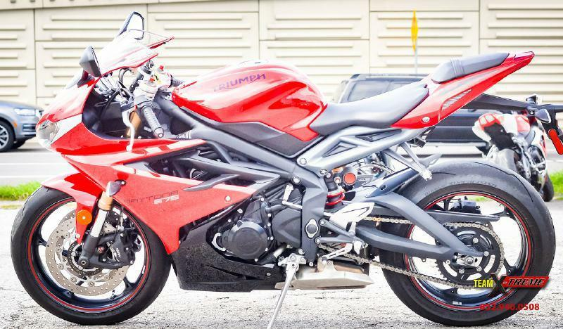 2015 triumph daytona 675 abs sportbike in houston tx - team x-treme