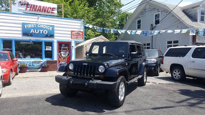 2009 Jeep Wrangler Unlimited 4x4 Sahara 4dr SUV w/ Front Side Airbags - Wingdale NY