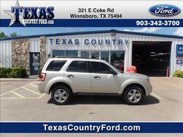 2012 Ford Escape for sale in Winnsboro, TX