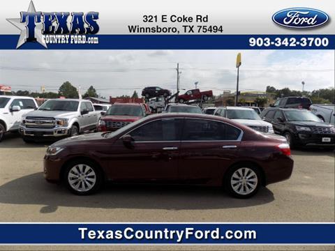 2013 Honda Accord for sale in Winnsboro TX